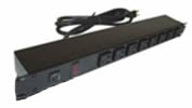 15 Amp Outlet Strips with FRONT-Mounted Receptacles